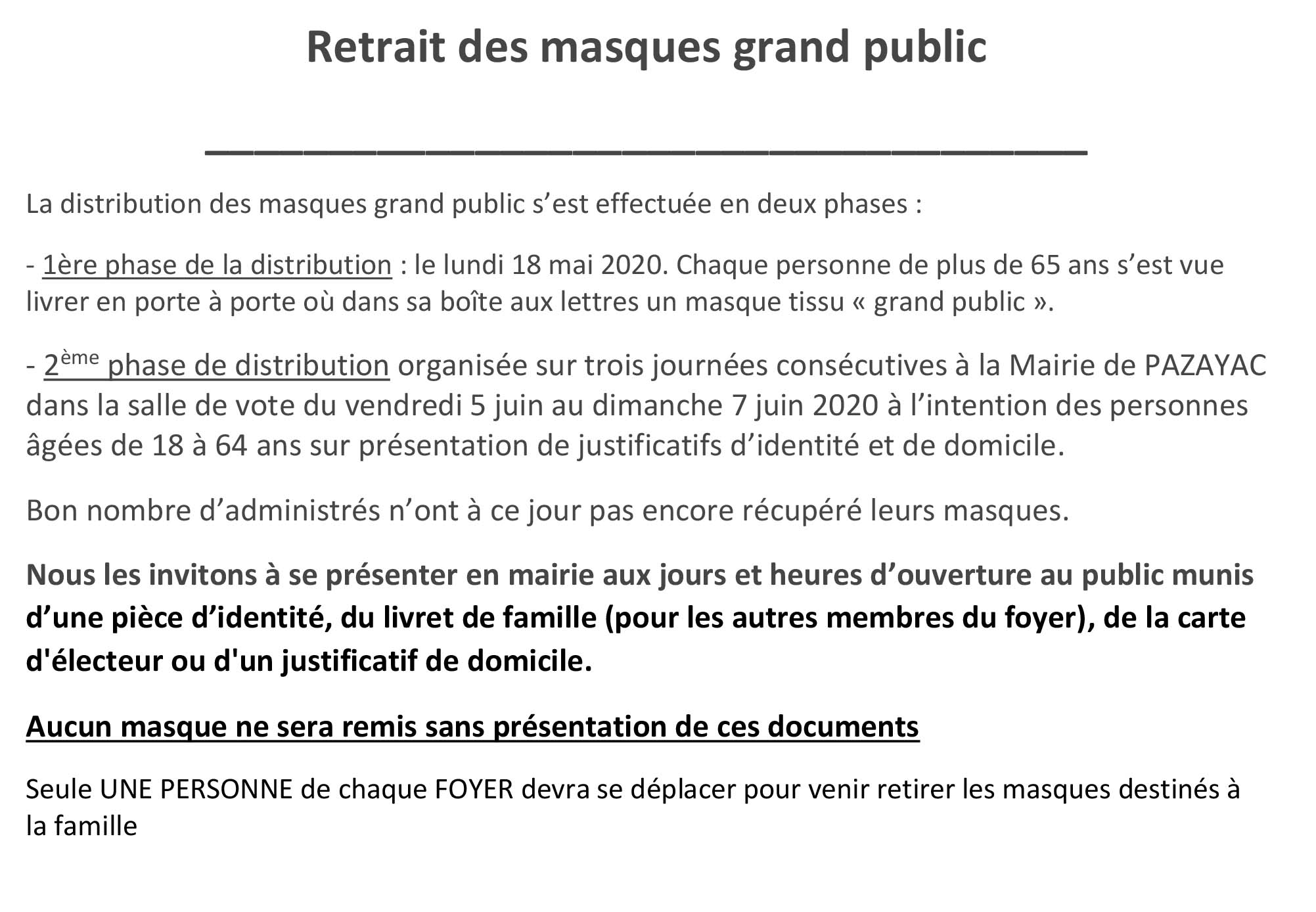 COURRIER infos distrib Masques.1